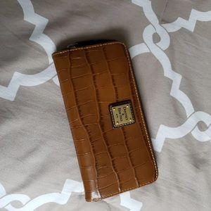 Dooney and bourke zip around wallet.croco